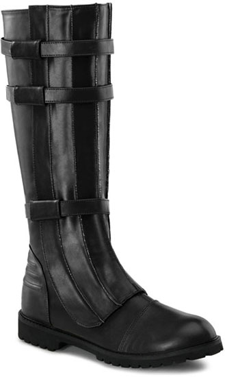 WALKER-130 Black Knee Boots