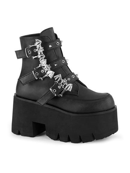 ASHES-55 Gothic Bat Platform Boots