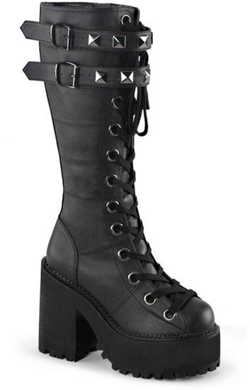 ASSAULT-202 Black Veggie Boots