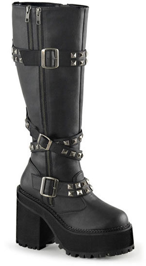ASSAULT-203 Black Vegan Boots
