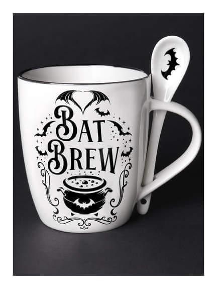 Bat Brew Mug and Spoon