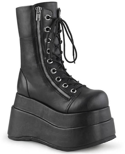 BEAR-265 Tiered Platform Lace-up Boots