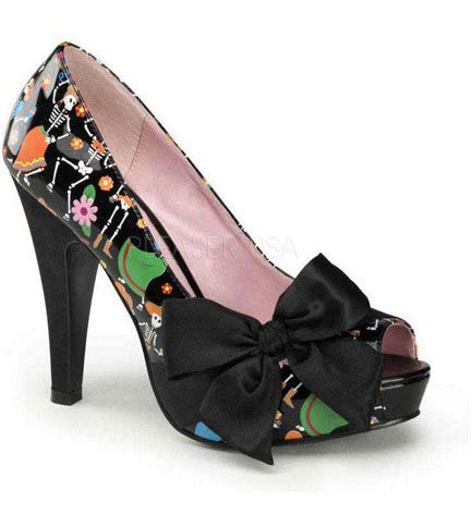 BETTIE-13 Day of the Dead Heels