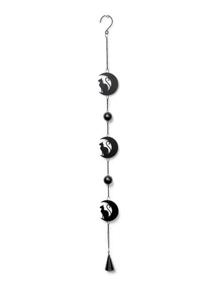 Black Cat and Moon Wind Chime