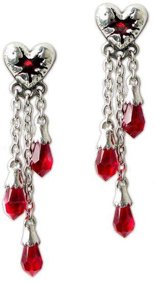 Bleeding Heart Dangle Earrings