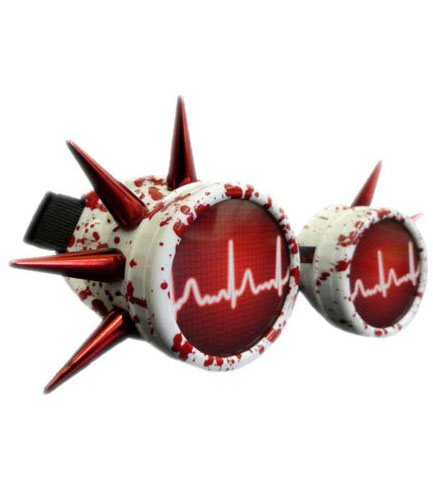 Blood Splatter Cyber Goggles