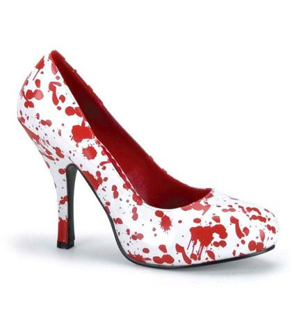 BLOODY-12 White Red Heels