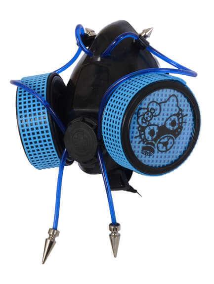Neon Blue Gaz Kitten Respirator