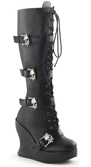 Bravo-109 Skull Buckle Boots