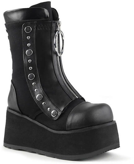 CLASH-206 Canvas Platform Boots