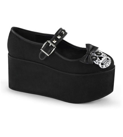 CLICK-02-3 Skull Platform Shoes