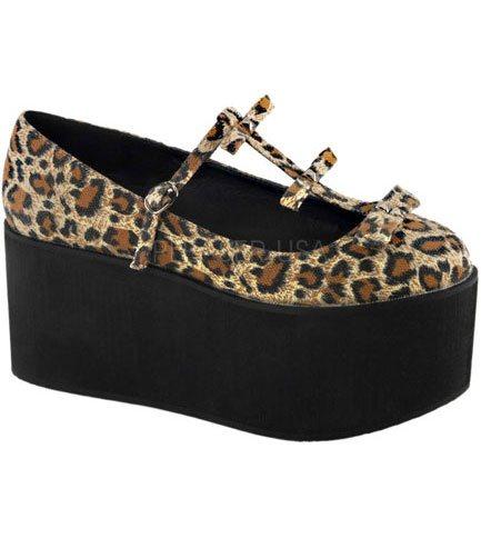 CLICK-08 Leopard Platform Shoes
