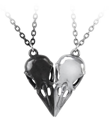 Coeur Crane Double Pendant Necklace