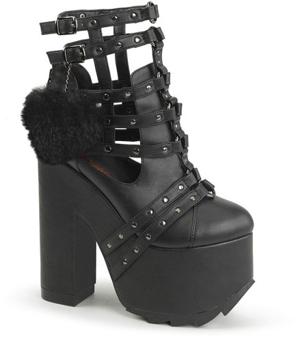 Demonia Cramps-05 Vegan Leather Platform Boots