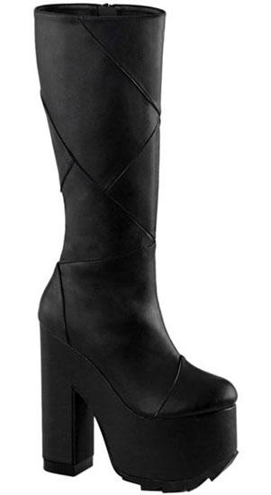 CRAMPS-201 Black Vegan Boots