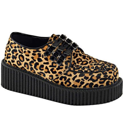 CREEPER-112 Leopard Print Creepers