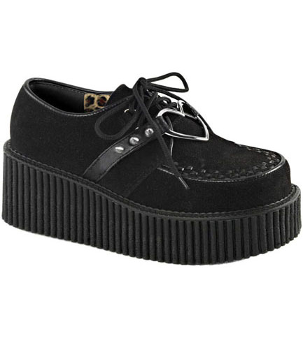 CREEPER-206 Black Vegan Shoes
