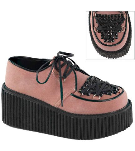 CREEPER-216 Pink Vegan Shoes