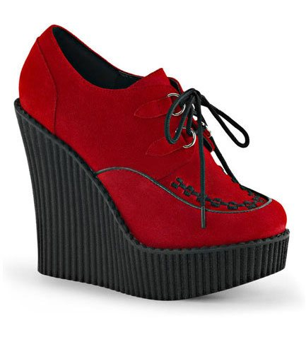 CREEPER-302 Red Wedge Shoes