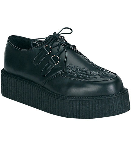 CREEPER-402 Black Leather Creepers