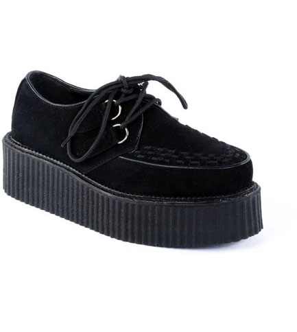 Black Veggie suede V-Creeper-502s