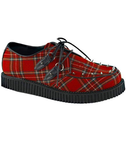 CREEPER-603 Red Plaid Creepers