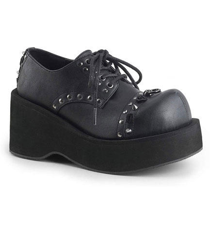 DANK-110 Black Vegan Leather Shoes