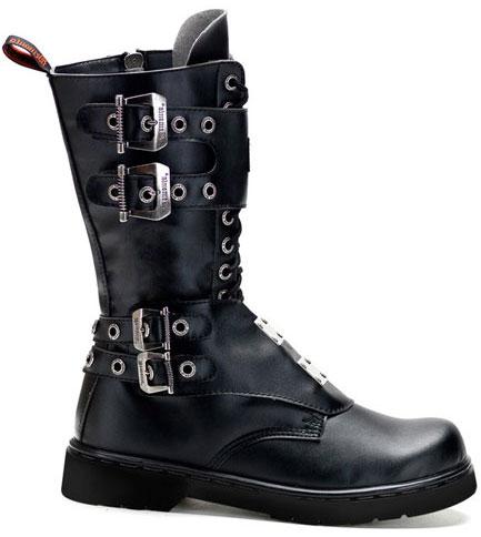 DEFIANT-302 Black Combat Boots