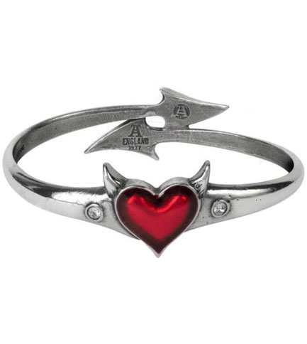 Devil Heart Bangle by Alchemy