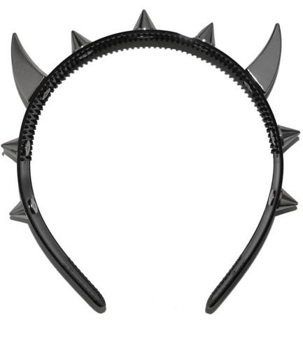 Devil spiked hair band headband