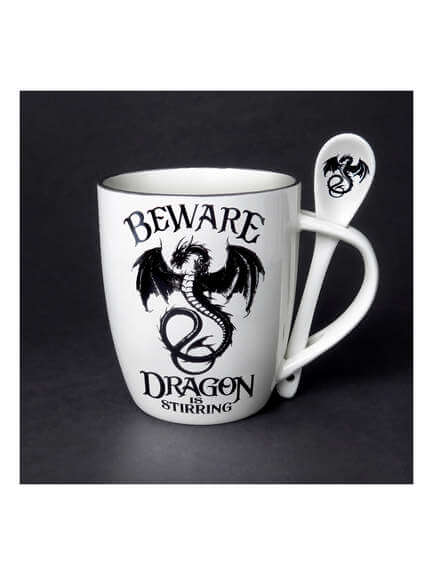 Dragon is Stirring Cup and Spoon