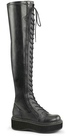 EMILY-375 Women's Gothic Black Platform Boots