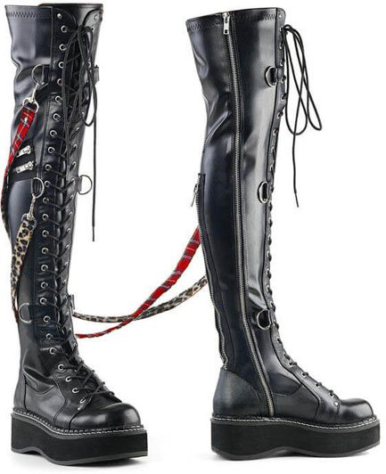 EMILY-377 over the knee platform boots