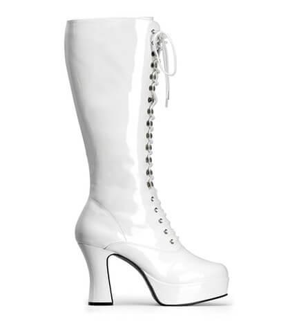 EXOTICA-2020 White Patent Boots