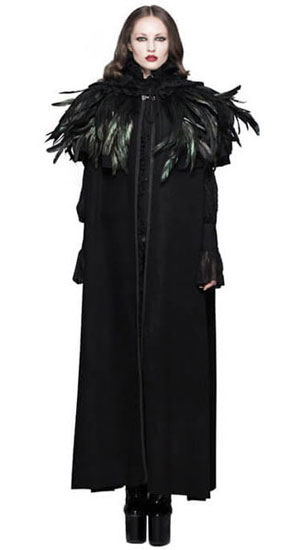 Feathered Bolero Cape