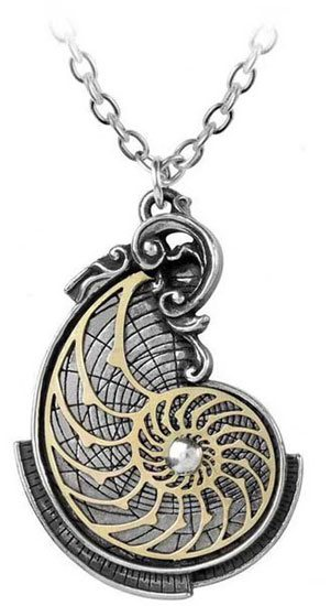 Fibonacci's Golden Spiral Pendant Necklace
