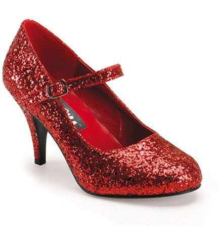 GLINDA-50G Red Glittered Heels