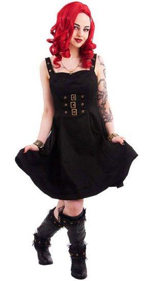 Golden Steampunk Dress