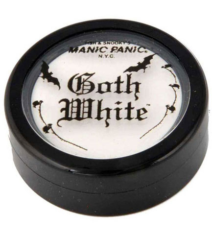 Goth White Cream Powder