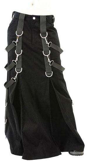 Gothic Belt Denim Skirt
