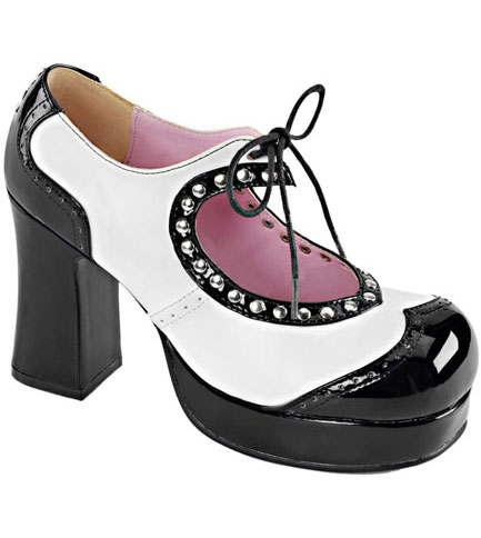 GOTHIKA-10 Black White Shoes