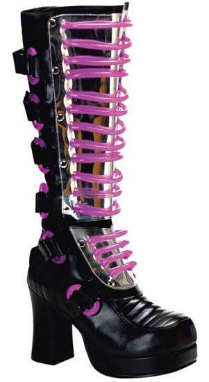 GOTHIKA-600UV Black Cyber Boots
