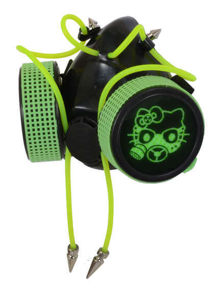 Green UV Gaz Kitten Respirator