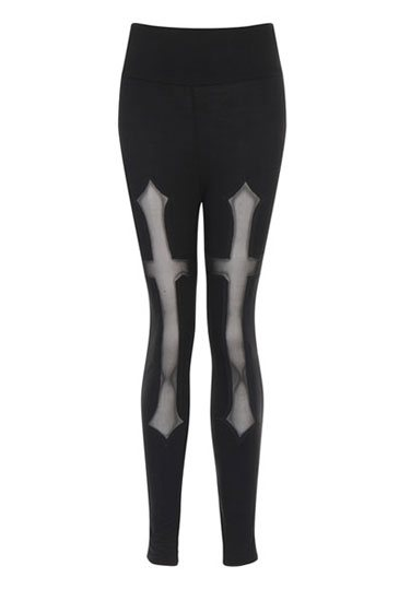 Gothic Hades Cross Leggings