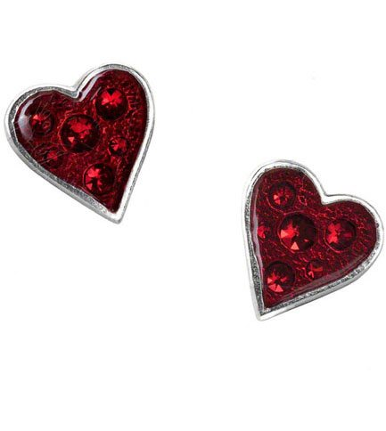 Heart's Blood Earring Studs