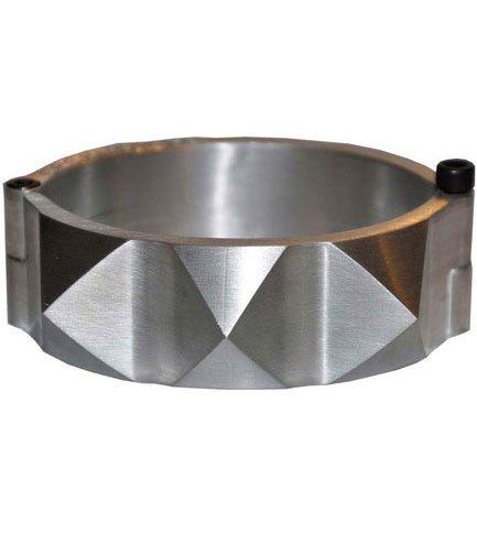 Silver Industrial Pyramid Spike Cuff