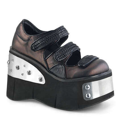 KERA-13 Pewter Platform Shoes