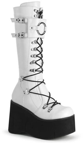 KERA-200 White Platform Boots