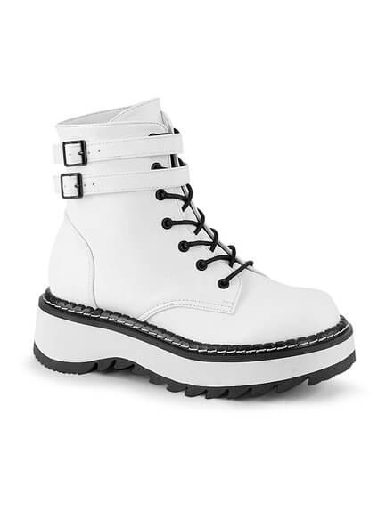 LILITH-152 White Platform Boots