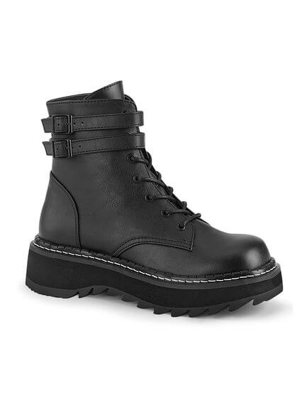 LILITH-152 Black Platform Boots